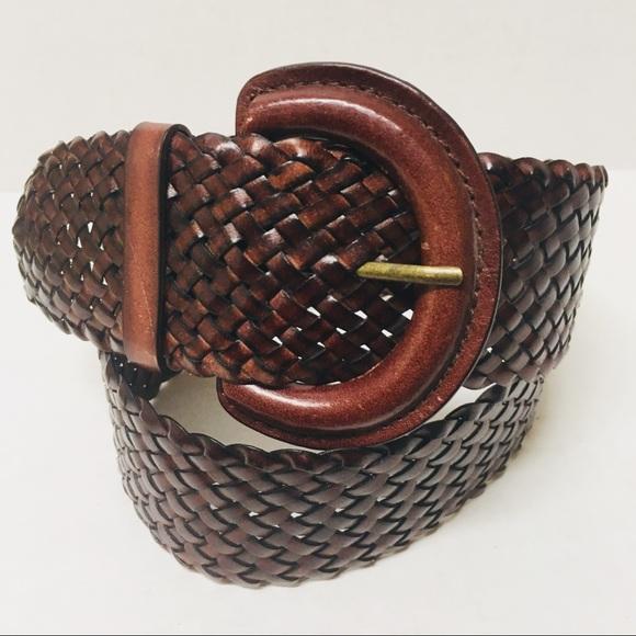 Estate Boho Gold Tone Woven Chunky Belt